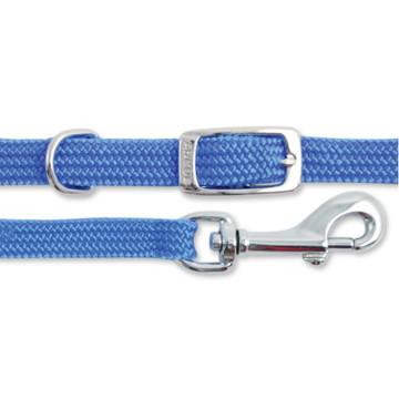 "Image of Smart Way blue Collar With Leash for dogs, Dog Leash With Padded Collar   25mm 48"" X 20""  High Quality Durable Material available at allaboutpets.pk in pakistan."