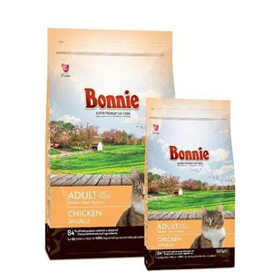 Bonnie Adult Cat Food Chicken 1.5kg and 500g available at  allaboutpets.pk in pakistan.