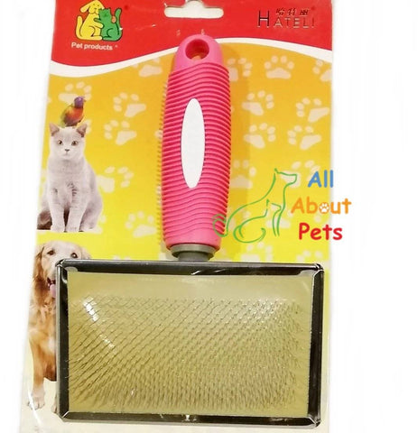 Brush Slicker for Cats & Dogs HATELI, cat brush, dog grooming brush available online at allaboutpets.pk in pakistan.