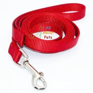 Red Nylon Leash For Small Dogs & Cats 4ft available at allaboutpets.pk in pakistan