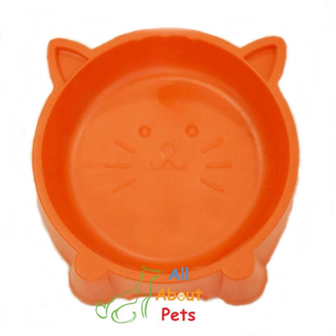 Image of Cat Face Feeding Bowl red color, dog feeding bowl, cat feeding bowl, pet feeding bowl available at allaboutpets.pk in pakistan.