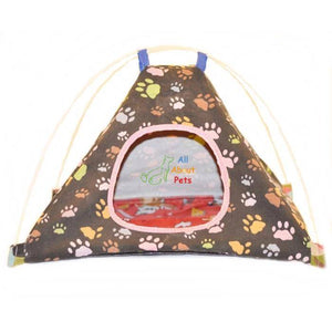 Cat House Paw Print Tent Shape, cat bed available online at allaboutpets.pk in pakistan.