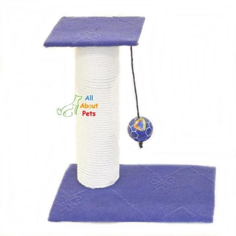 Image of Cat Scratch Post With Ball  blue color available online at allaboutpets.pk  in pakistan.