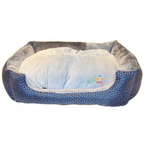 Image of Comfy Cat bed, Dog Bed Blue Heart Print, light blue plush pillow available at allaboutpets.pk in pakistan