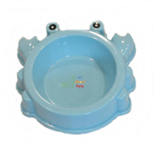 Crab Shaped Feeding Bowl, animal shape feeding bowl, dog feeding bowl, cat feeding bowl, blue pet feeding bowl available online at allaboutpets.pk in pakistan.