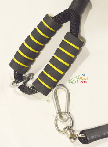 Image of Double Rope Nylon Leash For Large Dogs with soft grip and hook available at allaboutpets.pk in pakistan.