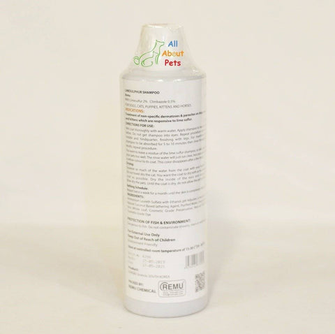 Remu Sulfur Plus Shampoo for Dogs, Cats & Horses, Persian cat shampoo available at allaboutpets.pk in pakistan.