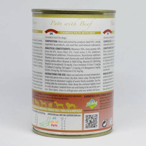 Image of Dibaq Canibaq Pate wet dog food available at allaboutpets.pk in pakistan.