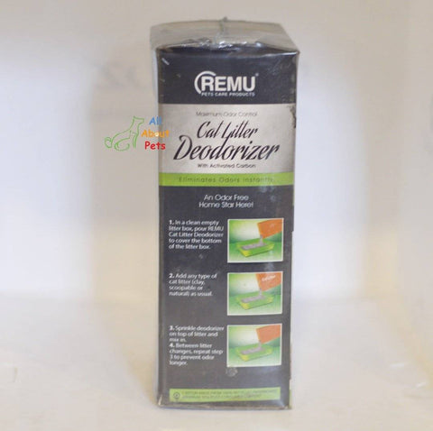 Remu Cat Litter Deodorizer, Activated carbon eliminates odors, prevents urine clumps from sticking to litter available at allaboutpets.pk in pakistan.