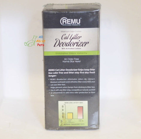 Image of Remu Cat Litter Deodorizer, Activated carbon eliminates odors, prevents urine clumps from sticking to litter available at allaboutpets.pk in pakistan.