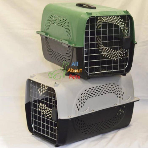 Jet Box Paw Print grey for Cats & Dogs, pet carry box, pet travel box available at allaboutpets.pk in pakistan.