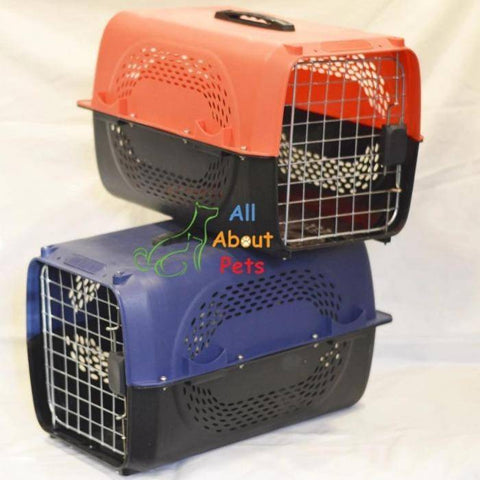 Jet Box Paw Print red for Cats & Dogs, pet carry box blue , pet travel box available at allaboutpets.pk in pakistan.