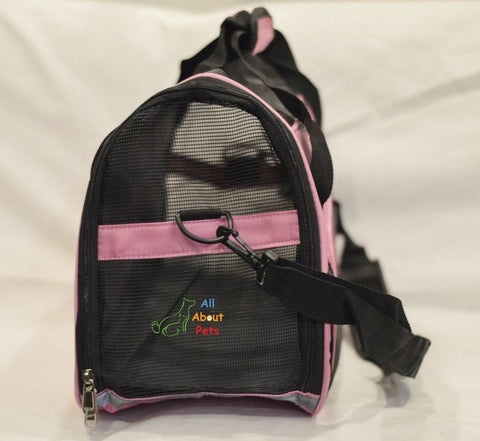 Image of Pet Carrier Bag Pink, pink bag, dog carry bag, available online at allaboutpets.pk in pakistan.