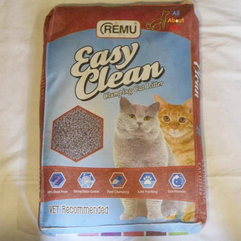 Image of Remu Easy Clean Cat Litter 20L, Lasts longer with 2x better absorption, Superior Odor Control, Harder Clumping for Easier Scooping, 100% Natural and Eco-Friendly available at allaboutpets.pk in pakistan.