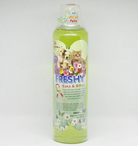 Remu Freshy Shampoo For pet dogs and cats green available at allaboutpets.pk in pakistan.