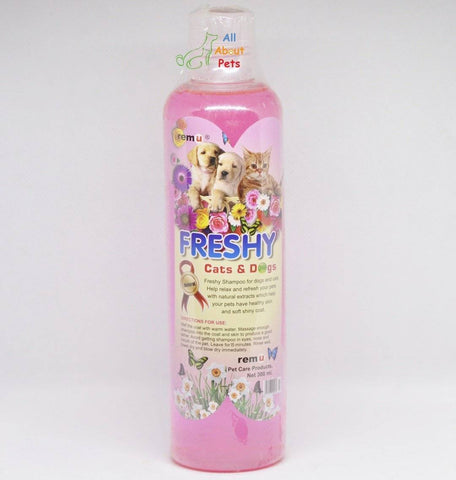 Remu Freshy Shampoo For Persian cat available online at allaboutpets.pk in pakistan.