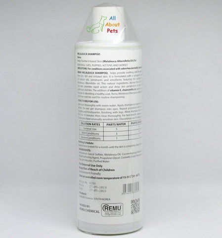 Image of Remu Melaleuca (Tea Tree) Shampoo Cats & Horses, Persian cat shampoo available at allaboutpets.pk in pakistan.