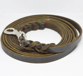 Leash Leather German Shepherd Long Tracking 10ft, german shepherd show leash, rottweiler show leash available at allaboutpets.pk in pakistan.