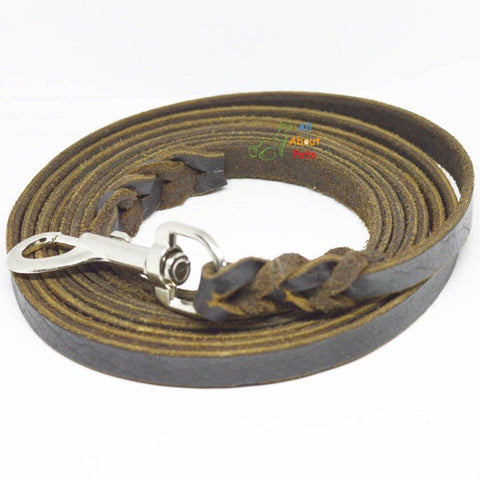 Image of Leash Leather German Shepherd Long Tracking 10ft, german shepherd show leash, rottweiler show leash available at allaboutpets.pk in pakistan.