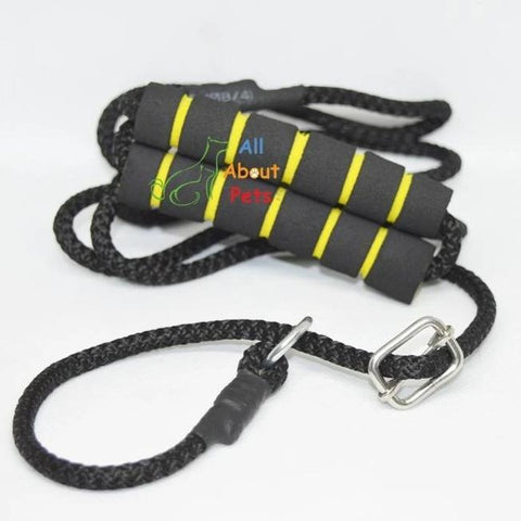 "Image of Labrador Slip Leash black color 9mm with grip - 58"", grip handle available at allaboutpets.pk in pakistan."