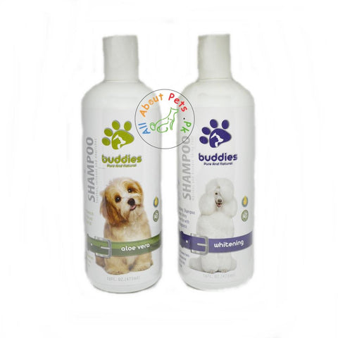 Buddies Dog Shampoo 473ml Aloe vera, whitening available in pakistan at allaboutpets.pk