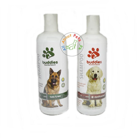 Buddies Dog Shampoo 473ml silk tea tree, medicated available in pakistan at allaboutpets.pk