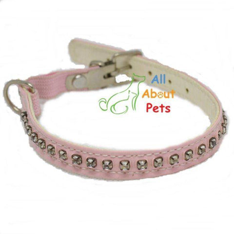 Diamante Studded Collars For Small Dogs & Cats, cat collar, puppy collar, pink pet collar available at allaboutpets.pk in pakistan.
