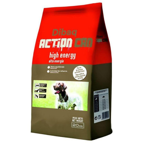 Image of Dibaq Action Can High Energy Dog Food 20 Kg, dog food available at allaboutpets.pk in pakistan.