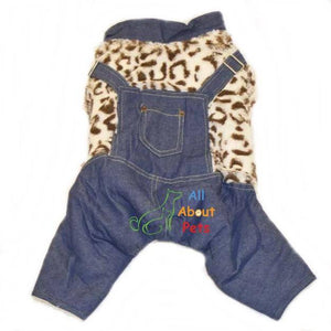 Adorable dog bodysuit made with soft polar fleece in leopard print available at allaboutpets.pk in pakistan