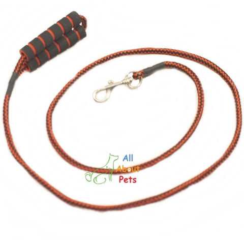 "Image of Dog Leash Rope  red and black 9mm with foam grip 58  a""vailable at allaboutpets.pk in pakistan."