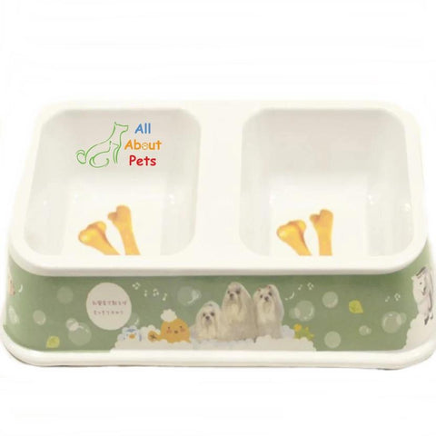 Dual Feeding Bowl for Dogs & Cats - Plastic pet feeding bowl available at allaboutpets.pk in pakistan.