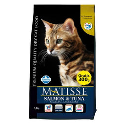 Farmina Matisse Salmon & Tuna cat food, 400g, 1.5kg and 10kg available at allaboutpets.pk in pakistan.