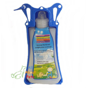 Folding Pet Travel Water Bottle blue color available online at allaboutpets.pk in pakistan.