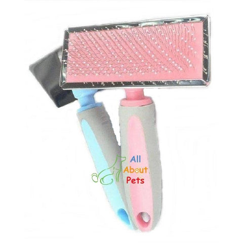 GOLDPETS Slicker Brush For Cats & Dogs blue color and pink color  available at allaboutpets.pk in pakistan.
