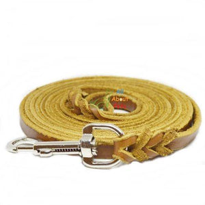 German Shepherd Leather Show Leash Soft Italian Leather 10ft available at allaboutpets.pk in pakistan.
