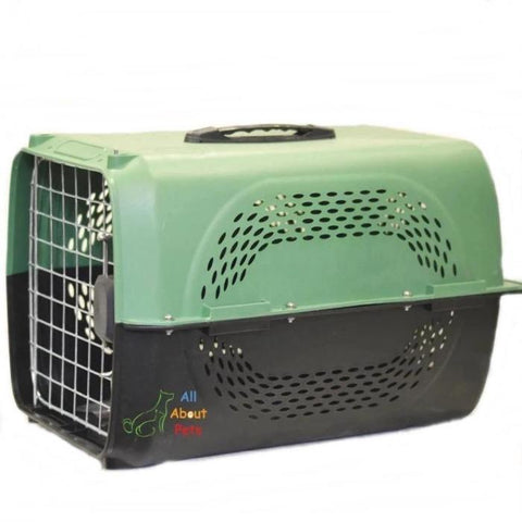 Jet Box Paw Print green for Cats & Dogs, pet carry box, pet travel box available at allaboutpets.pk in pakistan.