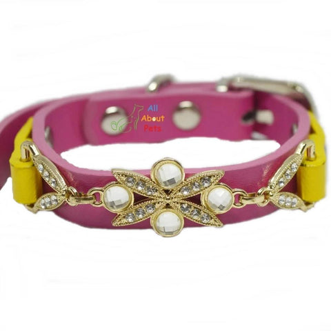 Image of Jewelry Collar For Cats & Small Dogs pink color available at allaboutpets.pk in pakistan.