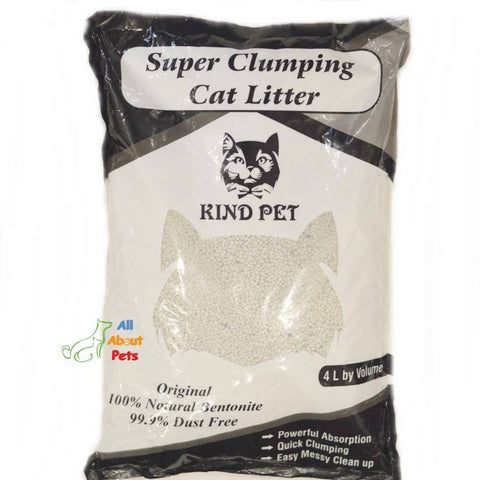 Kind Pet Cat Litter UnScented 5L dust free & easy clumping available at allaoutpets.pk in pakistan.