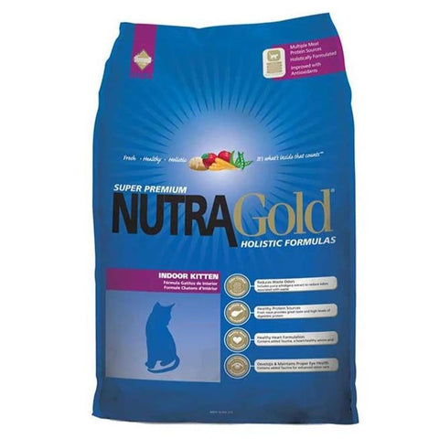 Image of NutraGold Holistic Indoor Kitten Dry Food  1KG available at allaboutpets.pk in pakistan.