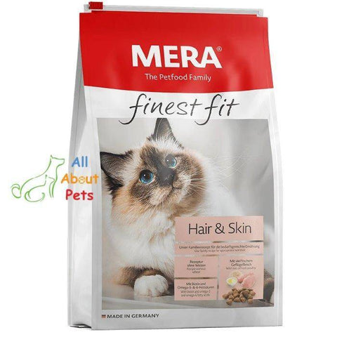 MERA Finest Fit Hair & Skin cat food 400g available online at allaboutpets.pk in pakistan.