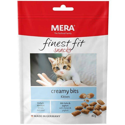 MERA Finest Fit Creamy Bits Kitten food, cat food available online at allaboutpets.pk in pakistan.