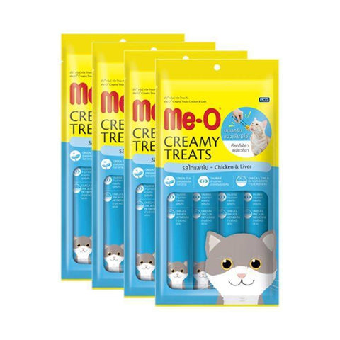 Image of Meo Creamy Treats Chicken & Liver 15 g for cats and kittens available at allaboutpets.pk