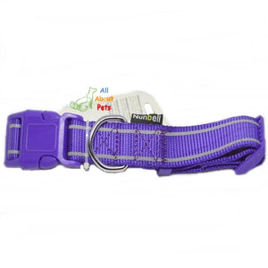Nunbell Reflective Dog Collar purple color, nylon dog collar available online at allaboutpets.pk in pakistan.
