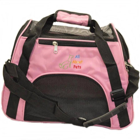 Pet Carrier Bag Pink, cat carry bag, available online at allaboutpets.pk in pakistan.
