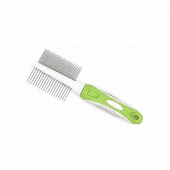 Double Sided Comb Stainless Steel For Cats & Dogs, pet brush green available at allaboutpets.pk in pakistan.