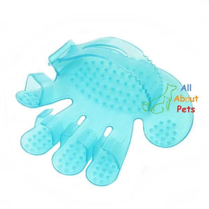 Silicon Pets Grooming & Massage Glove blue color available at allaboutpets.pk in pakistan.