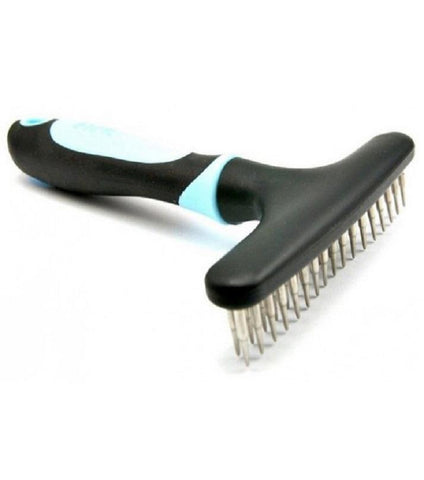 Image of DELE Undercoat Deshedding Pet Rake for Dogs & Cats, dog brush, blue pets brush, cat brush available at allaboutpets.pk in pakistan.