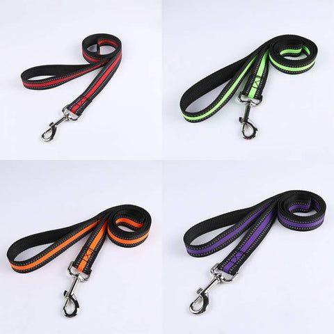Nunbell Reflective Leashes for Dogs, nylon dog leashes green, red, purple and orange available at allaboutpets.pk in pakistan.