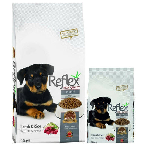 Reflex Puppy Food Lamb and Rice available at allaboutpets.pk in pakistan.