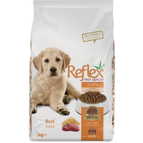 Reflex Puppy Food Beef available at allaboutpets.pk in pakistan.